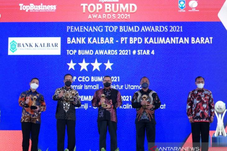 Bank Kalbar kembali raih tiga penghargaan di TOP BUMD Award 2021