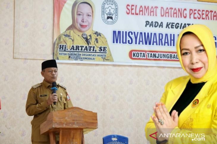 Dibuka Plt Wali Kota, Musda-V GOW Tanjungbalai tetapkan Hj Artati ketua terpilih