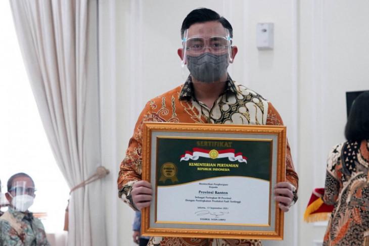Pemprov  Banten raih penghargaan peringkat tiga nasional penghasil padi