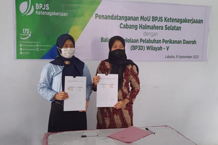 BPJS Ketenagakerjaan Halsel MoU  BP3D Wilayah V bagi nelayan antisipasi kecelakaan