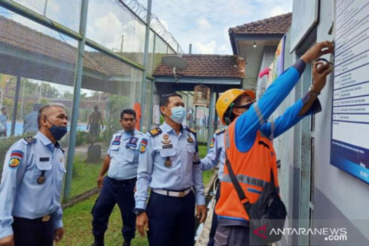 Antisipasi kebakaran, Lapas Tanjung Pandan periksa kelaikan instalasi listrik