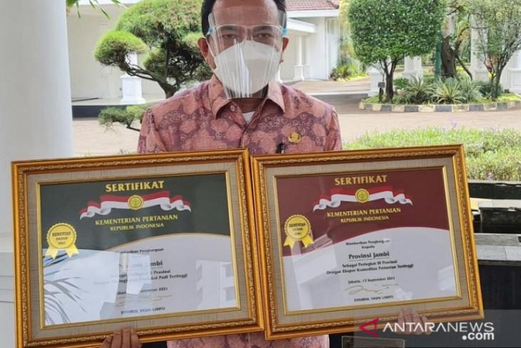 Provinsi Jambi terima dua kategori penghargaan bidang pertanian