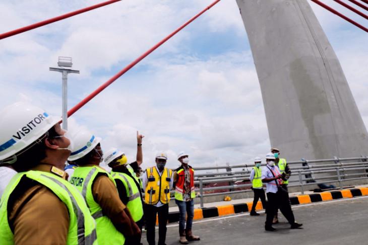 Pembangunan Jembatan Sungai Alalak Trans Kalsel capai 99 persen