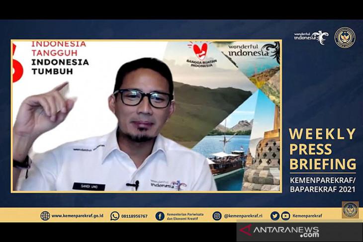 Menteri Sandiaga Uno paparkan tahap evaluasi uji coba buka 20 destinasi wisata