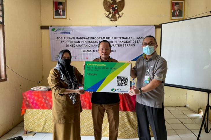 Seluruh perangkat desa di Kecamatan Cinangka antusias ikut program BPJS Ketenagakerjaan