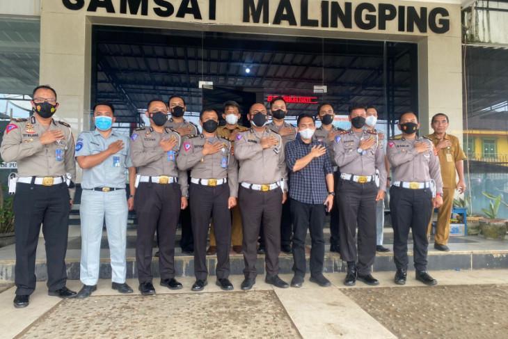 Pejabat Polda Banten cek Kantor Samsat baru Malimping