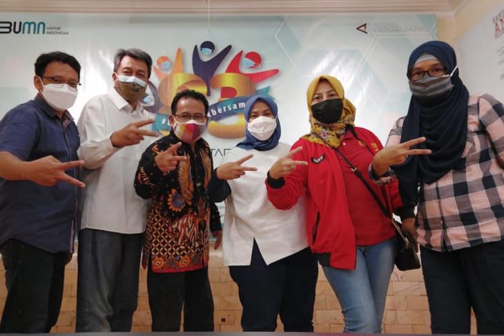 Tim Komunikasi Indosat Ooredoo sambung silaturahmi dengan ANTARA Biro Jatim