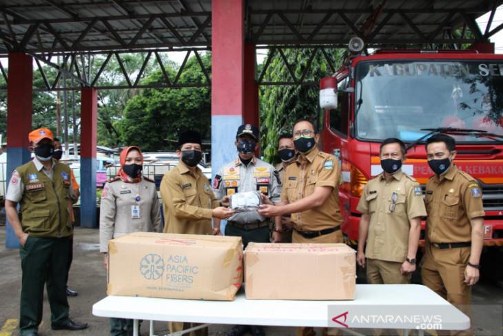 Dukung pembelajaran tatap muka, BPBD Kabupaten Serang bagikan ribuan masker