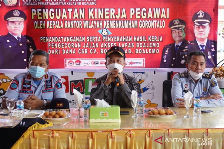 Kemenkumham Gorontalo minta petugas Lapas tingkatkan keterampilan