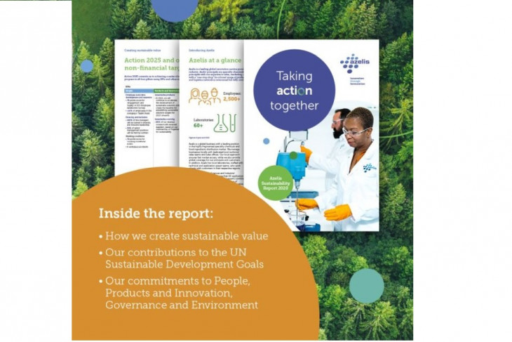 Azelis publishes its 2020 sustainability report, demonstrating progress against ambition to innovate and advance in sustainability