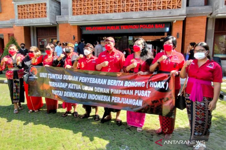 Pengurus PDIP Bali datangi Polda laporkan berita bohong