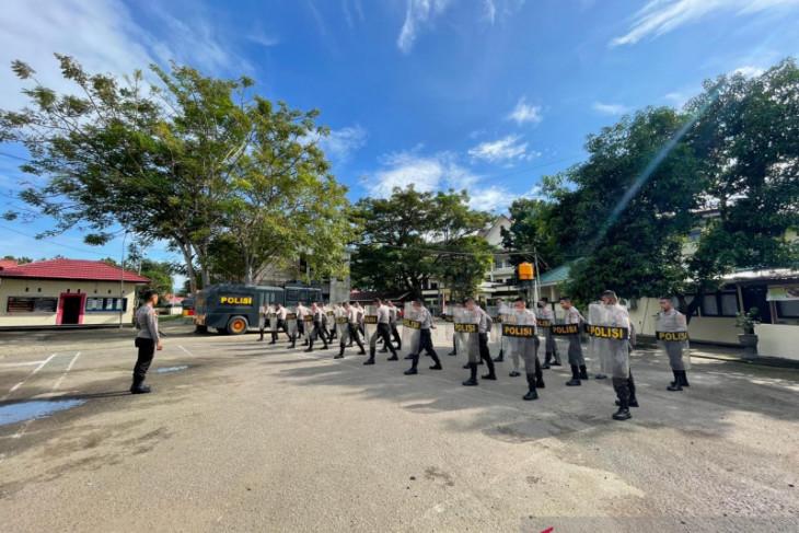 Samapta Polda Gorontalo latihan Dalmas tingkatkan kemampuan