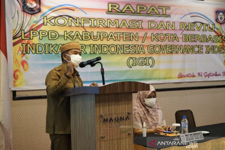 Kemendagri pilih Gorontalo percontohan evaluasi IGI