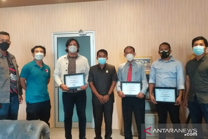 DPRD Belitung berikan penghargaan kepada Satresnarkoba Polres Belitung
