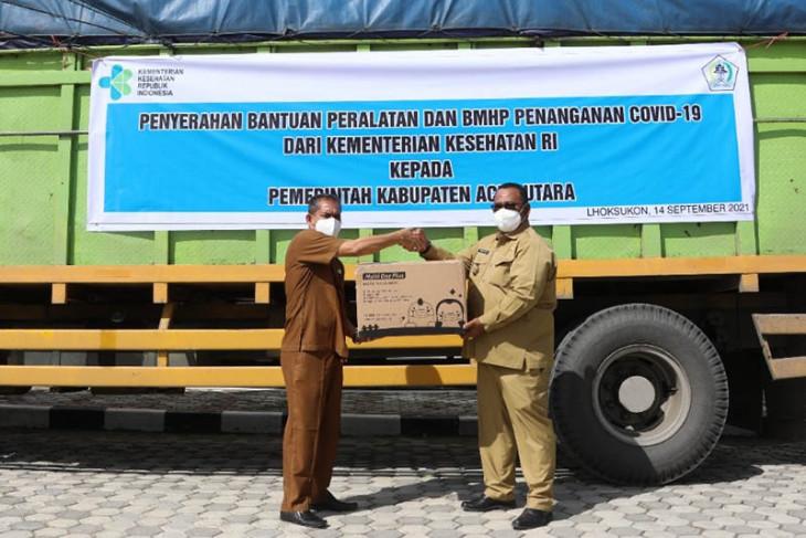 Kemenkes RI bantu Aceh Utara bahan medis COVID-19