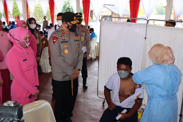 Kapolda Aceh harapkan target harian vaksinasi bisa tercapai