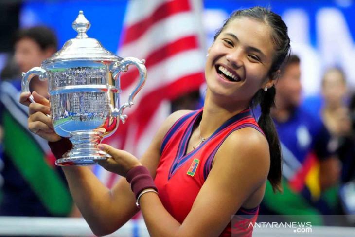 Pakaian Raducanu saat juarai US Open dipajang di Tennis Hall of Fame