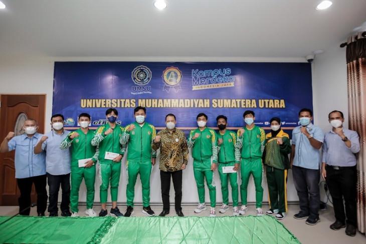Rektor lepas tujuh mahasiswa atlet Sumut ke PON Papua