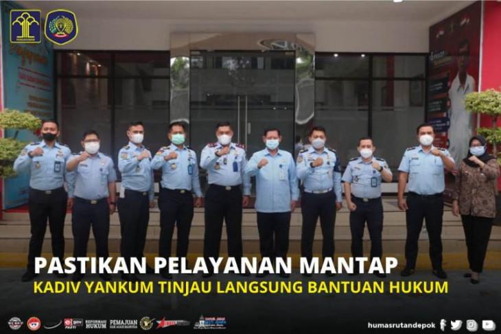 Kadiv Yankum Jabar verikfikasi layanan bantuan hukum di Rutan Depok