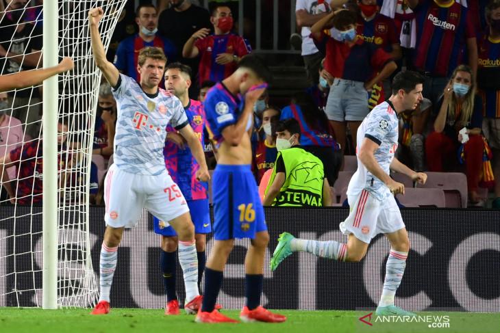 Liga Champions: Barca digulung Bayern, Laporta minta suporter bersabar