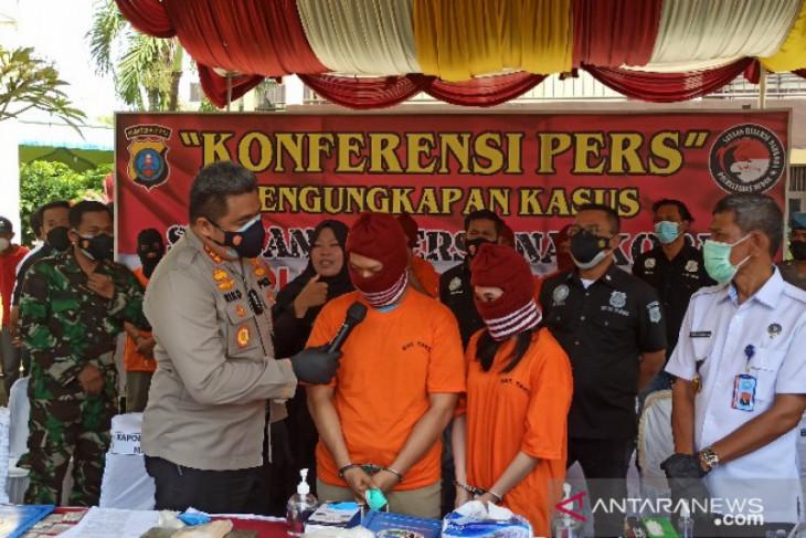Dua tersangka kasus industri rumahan narkoba di Medan dijerat pasal berlapis