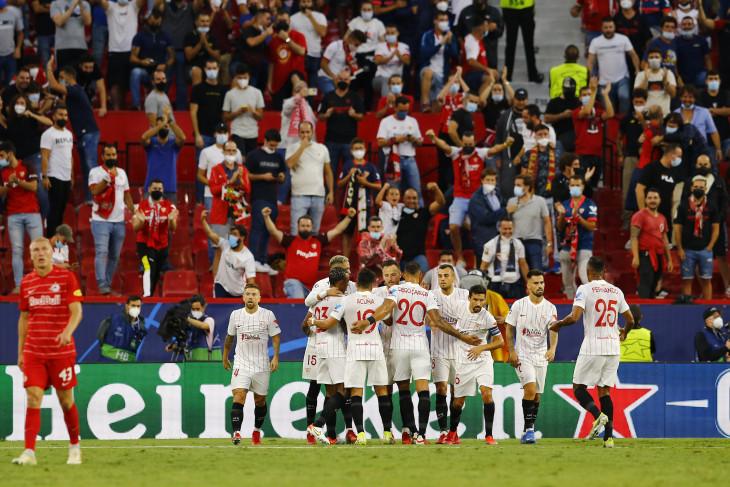 Liga Champions: 10 pemain Sevilla imbangi Salzburg 1-1