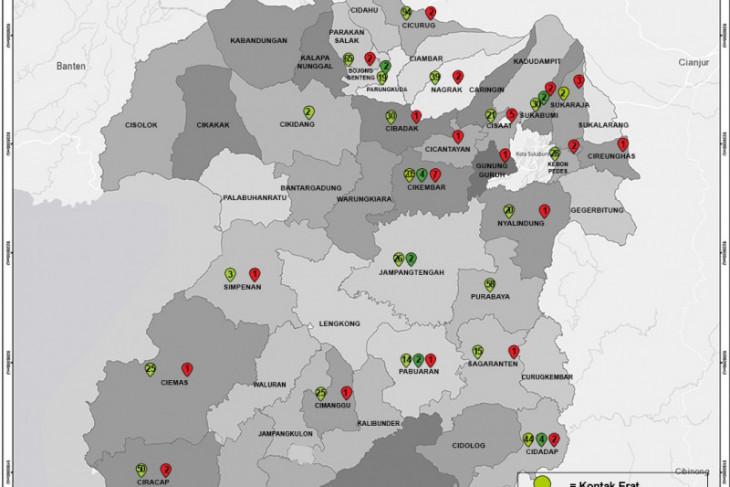 Lima kecamatan ini tertinggi kasus kematian pasien COVID-19 di Sukabumi