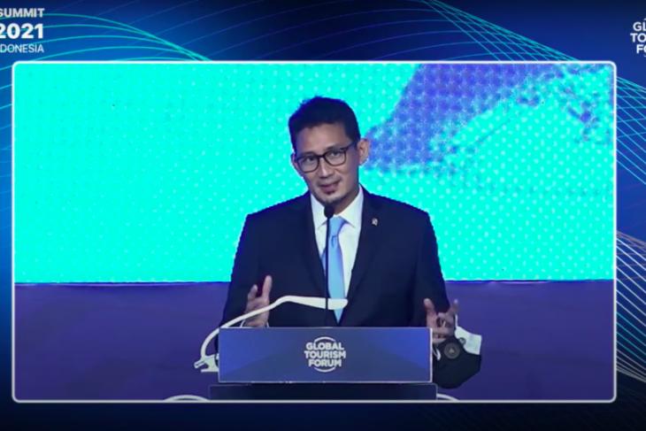 Menprekraf sampaikan dua pesan penting pada Global v Tourism Forum 2021