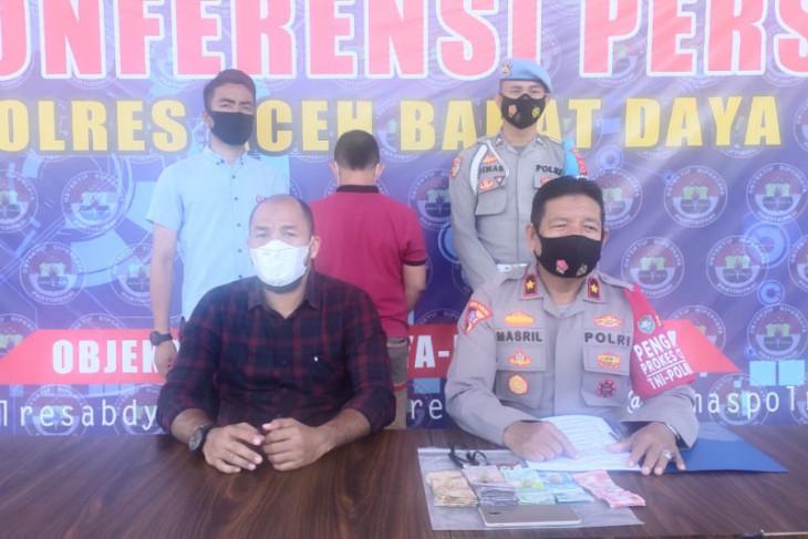 Terlibat kasus perjudian online, Mekanik bengkel di Abdya ditangkap