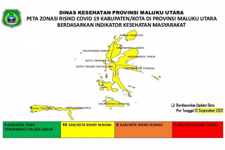 Dinkes   seluruh kabupatenkota  di Malut zona kuning COVID-19 intensifkan Prokes