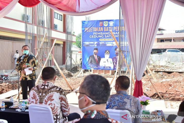 Pembangunan gedung Satlantas Polres Bogor senilai Rp13 miliar dimulai