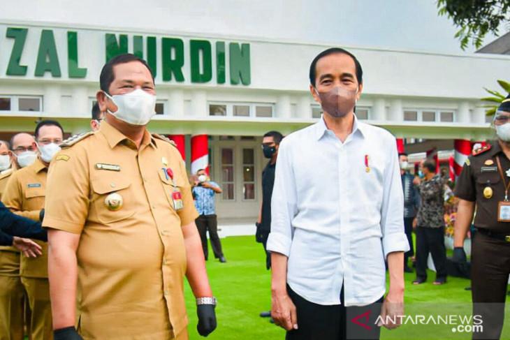 Wali Kota Padangsidimpuan hadiri kunjungan Presiden Jokowi ke Sumut