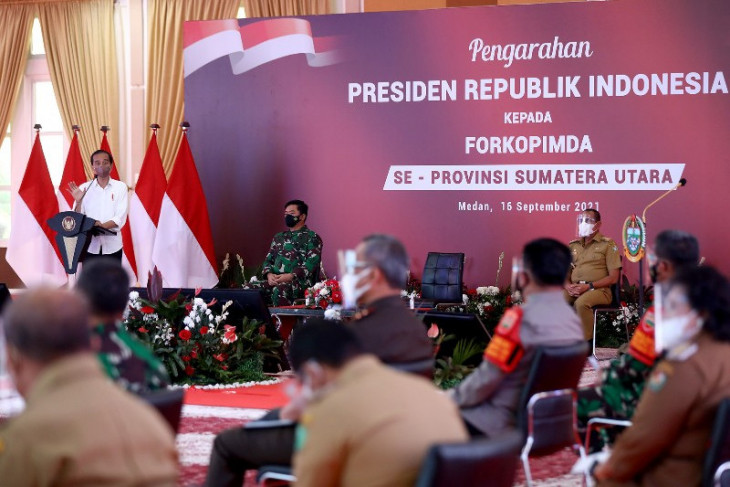 Presiden Jokowi minta gap capaian vaksinasi antardaerah di Sumut diatasi