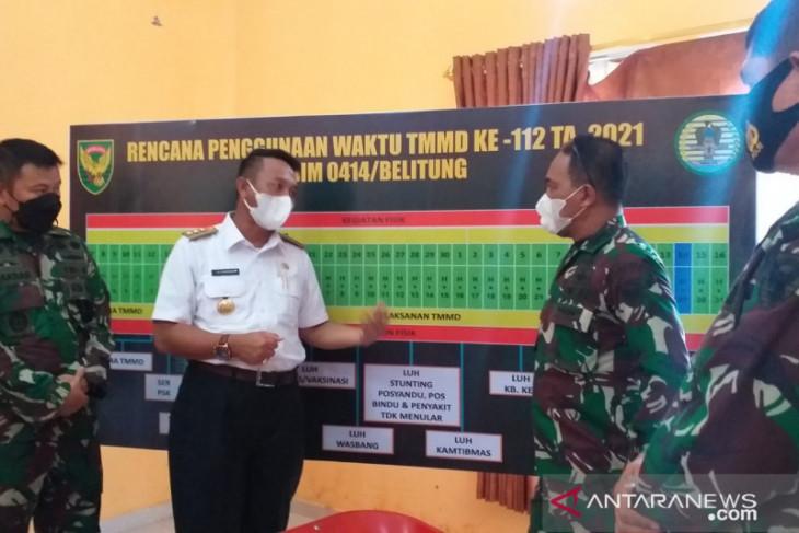 Bupati Belitung Timur:  TMMD bantu percepat pembangunan daerah setempat