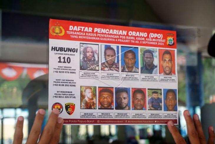 DPO terduga kasus penyerangan pos TNI di Papua Barat