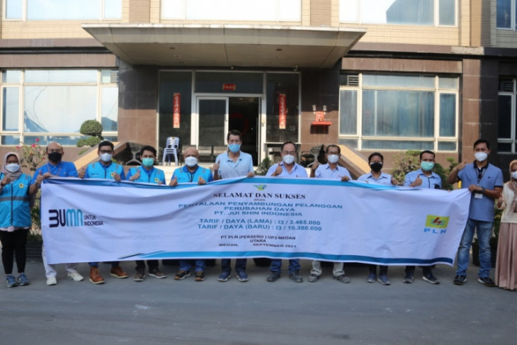 PLN UIW Sumut pasok kebutuhan listrik PT Jui Shin  Indonesia