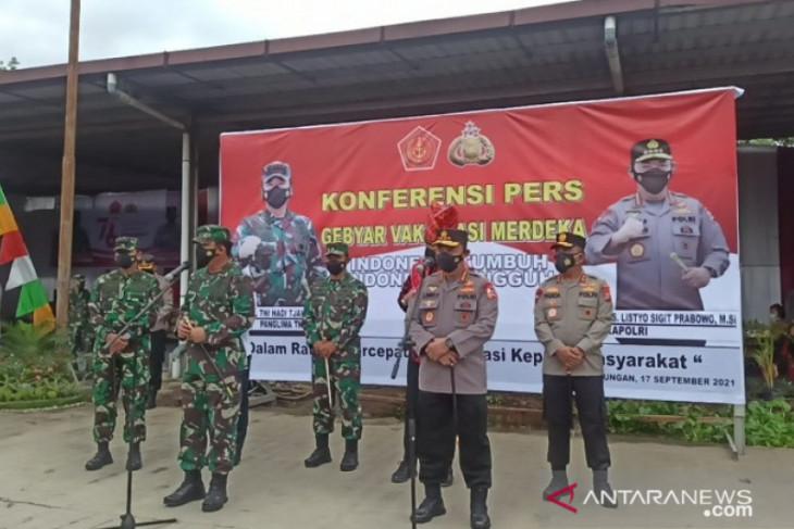 TNI/Polri bantu genjot vaksinasi COVID-19 di Medan