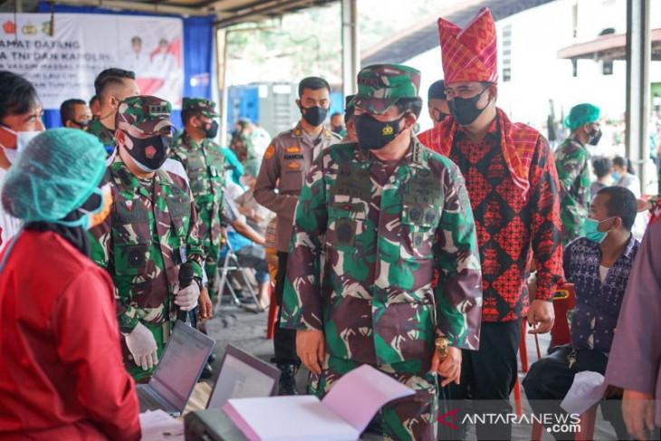 Panglima: Vaksinasi 23 daerah di Sumut masih 30 persen