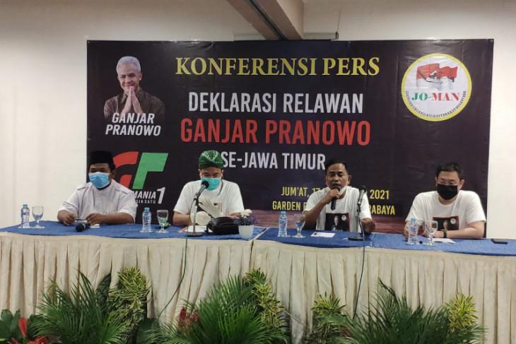 Relawan Jokowi se-Jatim deklarasi dukung Ganjar Pranowo-Erick Thohir