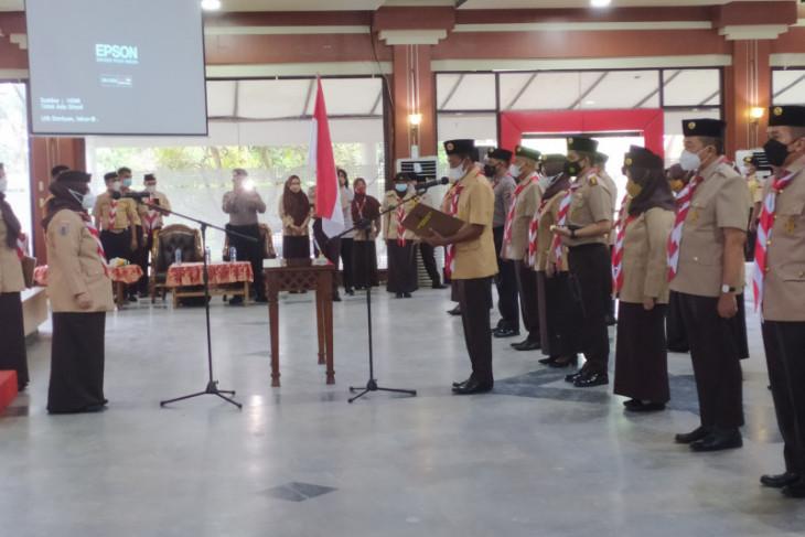 Ketua Kwarda Gerakan Pramuka Kalsel lantik bupati sebagai Mabicab Tanah Laut