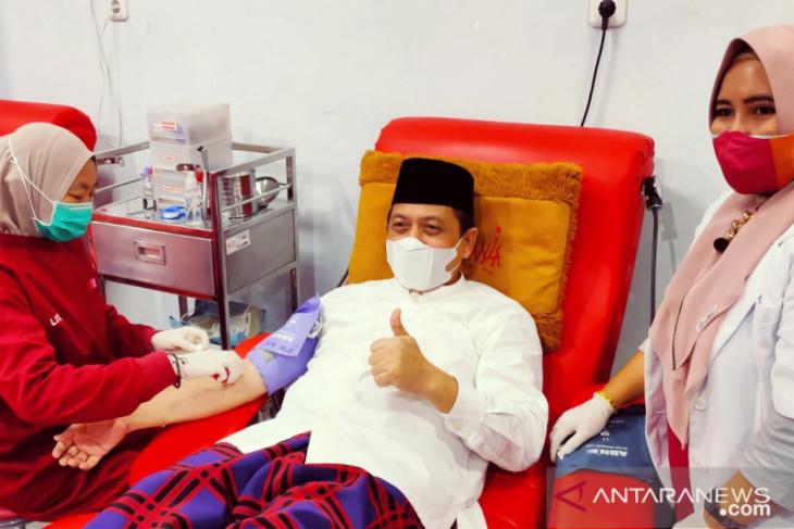 Wagub Kaltim donor darah  HUT Ke-76 PMI