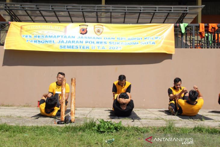Puluhan personel Polres Sukabumi Kota jalani uji ketahanan jasmani