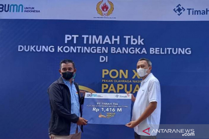 PT Timah serahkan bantuan transpotasi atlet PON Babel Rp1,416 miliar