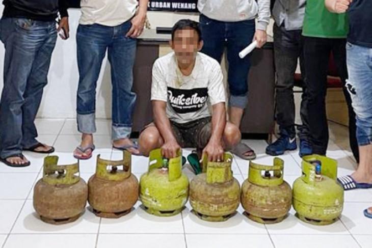 Polisi tangkap seorang pria pencuri spesialis tabung elpiji