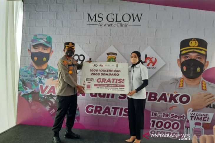 Dukung 'herd Immunity', MS Glow gandeng Polres Depok