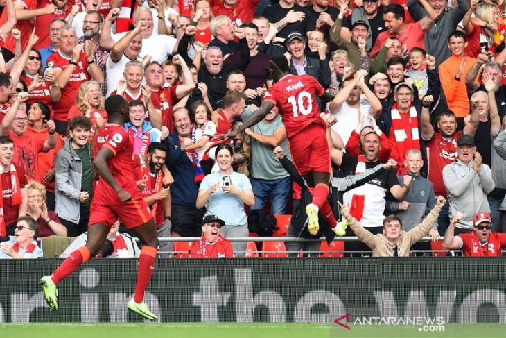 Liverpool hajar Crystal Palace dibantu rekor unik Sadio Mane