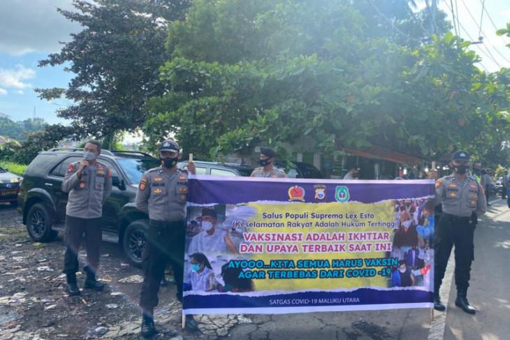 Korem Baabullah-Polda Malut edukasi vaksinasi kepada masyarakat perangi COVID -19