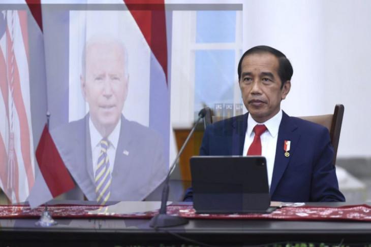 Presiden Jokowi hadiri pertemuan MEF secara virtual