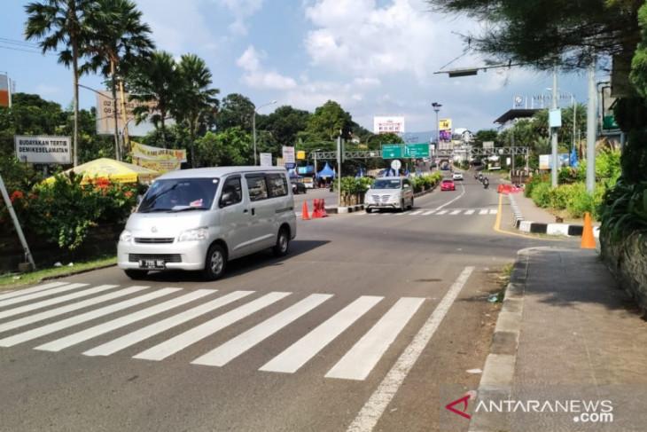 Jalur Puncak Bogor ditutup Sabtu siang