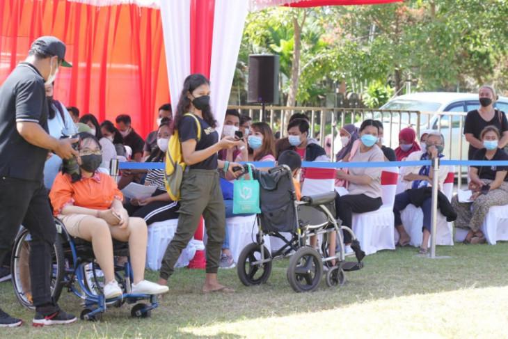 Stafsus Presiden-Yayasan MKF adakan vaksinasi 2.000 penyandang disabilitas di Bali
